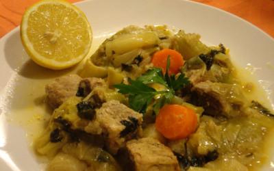 Χοιρινό πρασοσέλινο με σελινόριζα