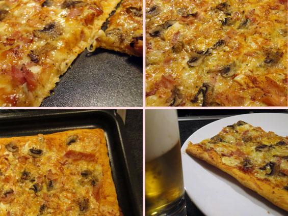 πίτσα έτοιμη για κατανάλωση