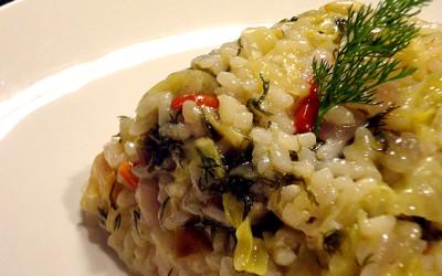 Αρωματικό ριζότο με λάχανο