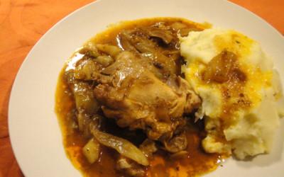 Κοτόπουλο κρασάτο με φινόκιο