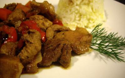 Κινεζοειδές χοιρινό με λαχανικά