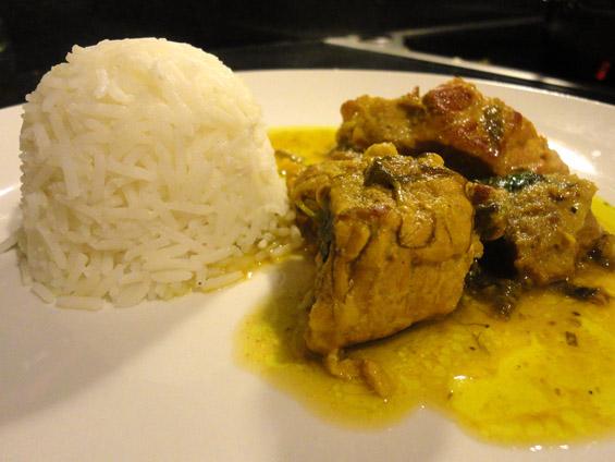 χοιρινό με κακουλέ, μπασμάτι και ρύζι μπασμάτι