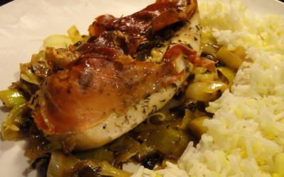 Στήθος κοτόπουλο με κάππαρη και προσούτο