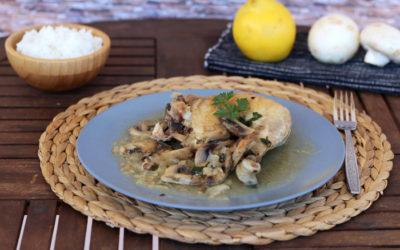 Κοτόπουλο με μανιτάρια και κυδώνι