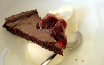 Φοντάν σοκολάτας με φράουλες
