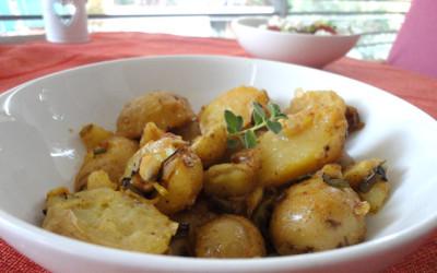 Πατάτες baby με μουστάρδα dijon