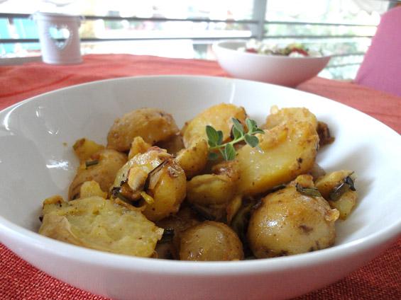 πατάτες baby με μουστάρδα και μέλι