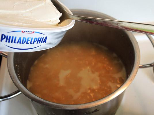 ρεβιθόσουπα με τυρί κρέμα