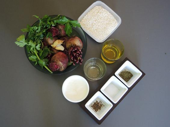 υλικά για ριζότο με πατζάρια