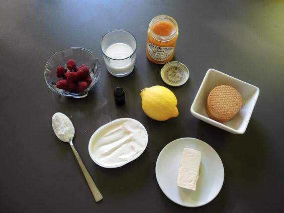 υλικά για τσιζκεικ λεμονιού