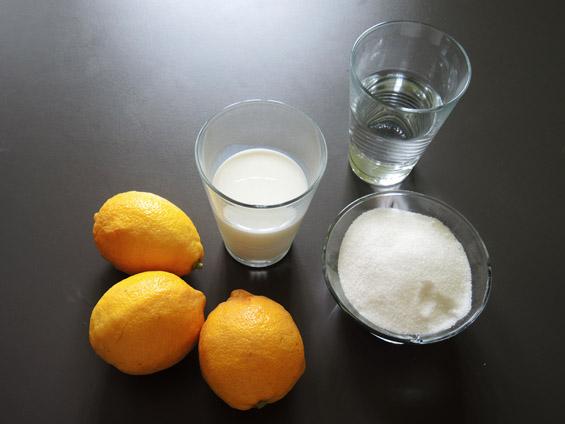 υλικά για σορμπέ λεμόνι