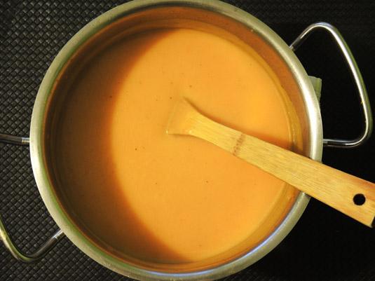 σούπας κολοκύθας βελουτέ στην κατσαρόλα
