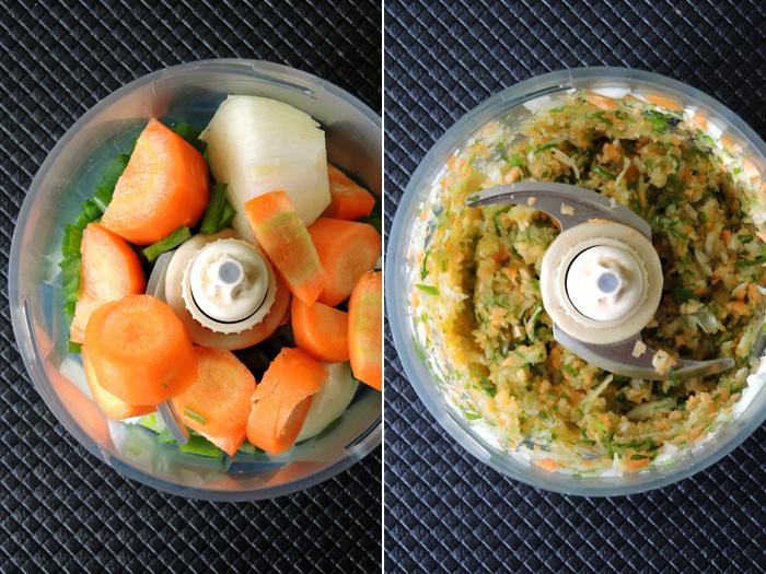καρότο και κρεμμύδι στο μούλτι