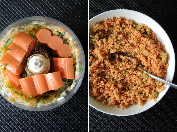 κρεμμύδι, καρότο και λουκάνικα στο μούλτι
