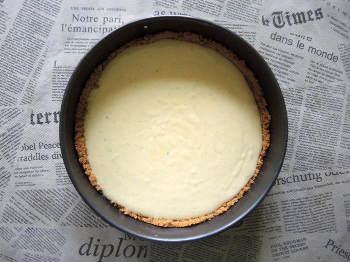 κρέμα με λάιμς πανω στη βα΄ση του μπισκότου