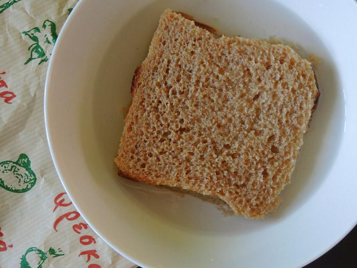 ψωμί σε νερό