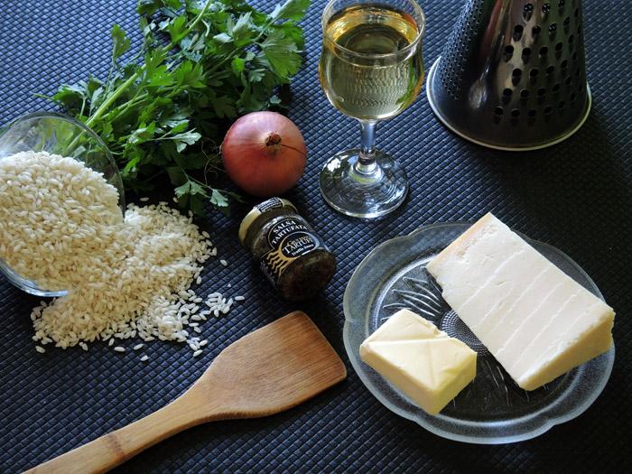 υλικά για ριζότο με σάλτσα τρούφας