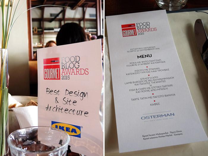 food blog awards menu