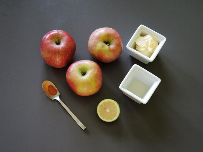 υλικά για τη σος μήλου