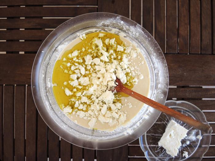 χυλος ζυμαροπιτας με τυρι φέτα