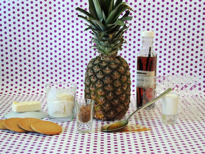 υλικά για κρέμα γιαουρτιού με ανανά 700