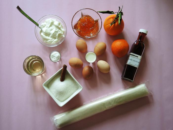 υλικά για πορτοκαλόπιτα