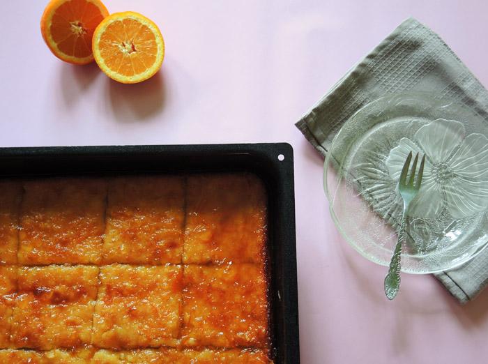 πορτοκαλόπιτα σιροπιασμένη 700