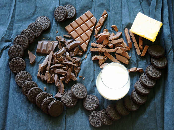 υλικά για τάρτα σοκολάτα