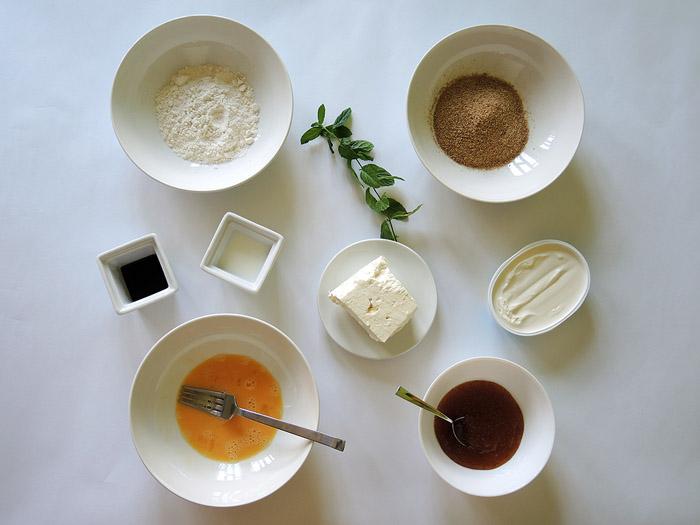 υλικά για φέτα πανέ με μαρμελάδα σύκο