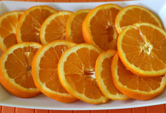 πορτοκάλι κομμένο σε ροδέλες