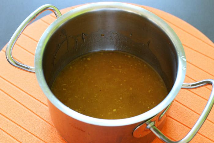 σάλτσα πορτοκαλιού στο κατσαρολάκι