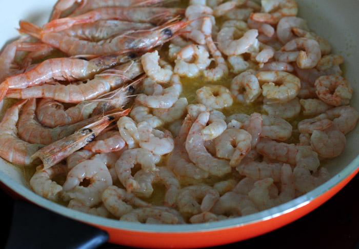 γαρίδες στο τηγάνι