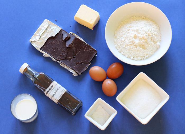 υλικά για κέικ σοκολατας