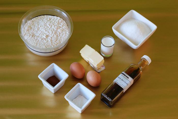 υλικά για μπισκότα με κανέλα