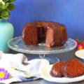 κέικ σοκολάτας με γλάσο σοκολάτας