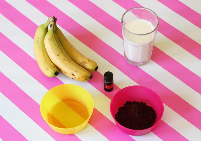 υλικά για παγωτο μπανάνα-σοκολάτα