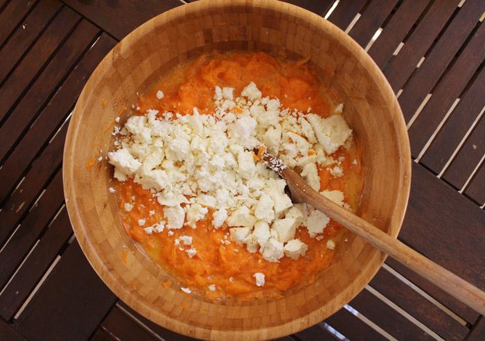 τριμμένη κολοκύθα με τυριά