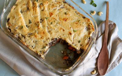 Φακές Μπελούγκα με λαχανικά και κρέμα κάσιους