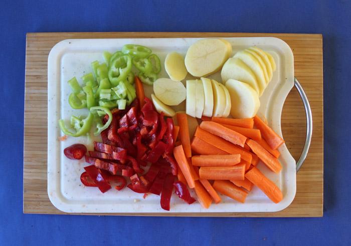 κομμένα λαχανικά