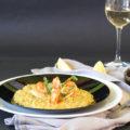 ριζότο με γαρίδες και σαφράν 700
